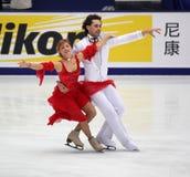 Jana Khokhlova en Sergei Novitski (RUS) Royalty-vrije Stock Fotografie