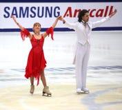 Jana Khokhlova en Sergei Novitski (RUS) stock foto
