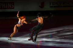 Jana Khokhlova and Sergei Novitski. ISU European Figure Skating Championship 2009 in Helsinki, Finland. Jana Khokhlova and Sergei Novitski from Russia in Royalty Free Stock Images