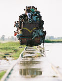 Janakpur Express, Nepal. Very full train after floods near Janakpur in southern Nepal on October 2008 Stock Image