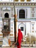 Janakpur Janki Mandir borggård Royaltyfri Bild