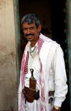 Man from yemen with traditional dagger Stock Photos