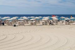 Jandia海滩在费埃特文图拉岛,社论 免版税库存照片