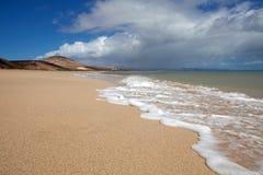 Jandia海滩 免版税图库摄影