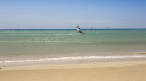Jandia,费埃特文图拉岛海滩  免版税库存图片