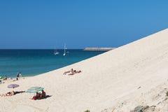 Jandia Beach in Fuerteventura, editorial Royalty Free Stock Photos