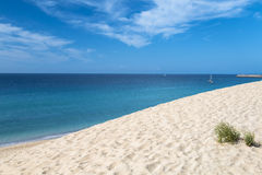 Jandia Beach in Fuerteventura. The endless Jandia Beach in Fuerteventura, Spain Stock Images