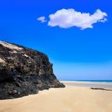 Jandia beach Mal Nombre Fuerteventura. At Canary Islands of Spain Stock Photo