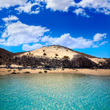 Jandia beach Mal Nombre Fuerteventura. At Canary Islands of Spain Stock Photos