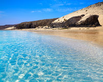 Jandia beach Mal Nombre Fuerteventura. At Canary Islands of Spain Royalty Free Stock Image