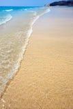 Jandia beach Mal Nombre Fuerteventura. At Canary Islands of Spain Stock Photography