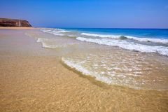 Jandia beach Mal Nombre Fuerteventura. At Canary Islands of Spain Stock Images