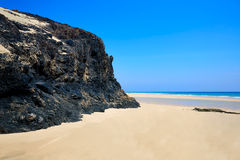 Jandia beach Mal Nombre Fuerteventura. At Canary Islands of Spain Royalty Free Stock Photography