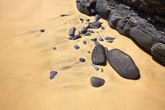 Jandia beach Mal Nombre Fuerteventura. At Canary Islands of Spain Royalty Free Stock Photos
