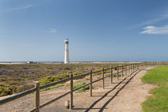 Jandia Lighthouse, Fuerteventura. Jandia lighthouse in Fuerteventura, Spain Stock Image