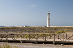 Jandia Lighthouse, Fuerteventura. Jandia lighthouse in Fuerteventura, Spain Royalty Free Stock Photography