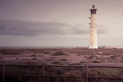 Jandia lighthouse. A view of the famous jandia lighthouse faro, in Fuerteventura islands, Canary islands Royalty Free Stock Image