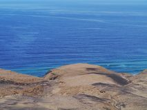 The Jandia nature park on Fuerteventura in Spain Stock Images