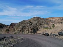 The Jandia nature park on Fuerteventura in Spain Royalty Free Stock Image