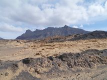 The Jandia nature park on Fuerteventura in Spain Royalty Free Stock Photos