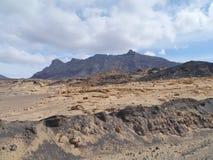 The Jandia nature park on Fuerteventura in Spain Royalty Free Stock Photos