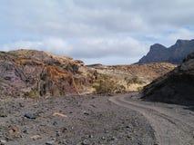 The Jandia nature park on Fuerteventura in Spain Stock Images
