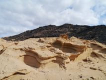 The Jandia nature park on Fuerteventura in Spain Royalty Free Stock Photo