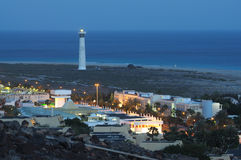 Jandia Playa at night, Fuerteventura. Coast at Jandia Playa at night. Canary Island Fuerteventura, Spain Stock Photos