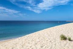 Jandia strand i Fuerteventura Arkivbilder