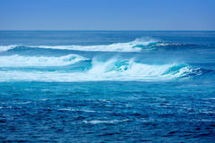 Jandia surf beach waves in Fuerteventura Royalty Free Stock Photo