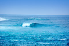 Jandia surf beach waves in Fuerteventura Stock Images