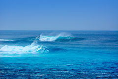 Jandia surf beach waves in Fuerteventura Royalty Free Stock Images