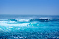 Jandia surf beach waves in Fuerteventura Royalty Free Stock Photos