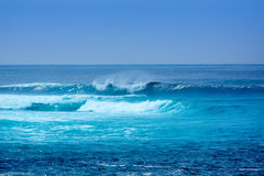 Jandia surf beach waves in Fuerteventura Royalty Free Stock Image