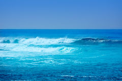Jandia surf beach waves in Fuerteventura Stock Photo