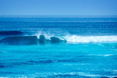 Jandia surf beach waves in Fuerteventura Stock Image