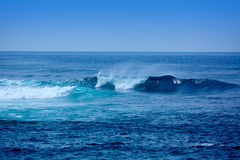 Jandia surf beach waves in Fuerteventura Royalty Free Stock Photography