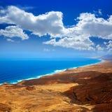 Jandia zachód wyrzucać na brzeg antenę Fuerteventura Obraz Royalty Free