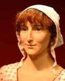 Jane Austen berühmtes Wax Model Portrait Autor Stockbild