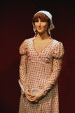 Jane Austen famous author Wax Model. This wax model of the famous English author Jane Austen is considered to be the most accurate likeness. It has been Stock Images