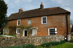 Jane Austen home, Chawton, Hampshire. The historic home of novelist Jane Austen in the village of Chawton, Hampshire. Now open to the public as a museum Royalty Free Stock Images