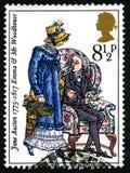 Jane Austen UK znaczek pocztowy Zdjęcie Stock