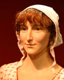 Jane Austen Wax Model Portrait autor famoso Imagem de Stock
