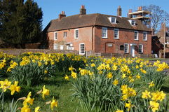 Jane Austens House, Chawton. The house lived in by the author Jane Austen in Chawton, Hampshire Royalty Free Stock Photos