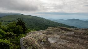 Jane bald rocks time lapse on summer afternoon. With a storm in the distance stock video footage