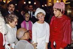 Jane Byrne. Is the guest of honor at a Christmas Day event for senior citizens and disabled people in the lobby of City Hall in 1979.  In 1979 Byrne became the Stock Photography