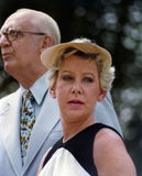 Jane Byrne. Mayor Jane Byrne attends a senior citizens picnic in Chicago in July, 1981. In 1979 Byrne became the first and only female elected mayor of Chicago Stock Photo