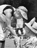 Jane Byrne. Mayor Jane Byrne greets a supporter at a Senior Citizens picnic in Chicago in July of 1981.  In 1979 Byrne became the first and only female elected Royalty Free Stock Photo