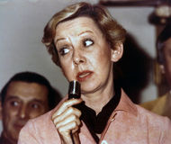 Jane Byrne. Mayor Jane Byrne trolls for votes in a Chicago condominium building shortly before the Democratic Party primary in 1983.  In 1979 Byrne became the Stock Images