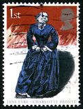 Jane Eyre UK Postage Stamp. GREAT BRITAIN - CIRCA 2005: A used postage stamp from the UK, celebrating the famous 19th century novel Jane Eyre by Charlotte Bronte Royalty Free Stock Image